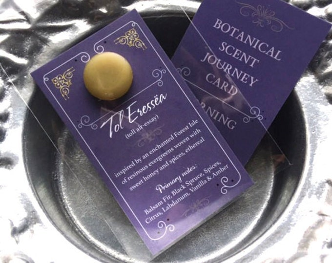 Botanical Solid Cream Perfume Refill for Brass Mini Compact or Perfume Locket Necklace ~ Choose your perfume ~ Solid Perfume Sample