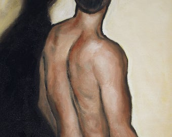Male Figure Oil Painting (2491)
