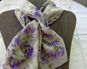 Purple Passion - Hand Dyed Crepe de Chine Silk Scarf