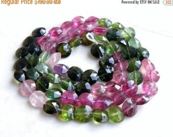 Final 51% off Sale Tourmaline Briolette Gemstone Faceted Coin 6mm 66 beads Full Strand Wholesale