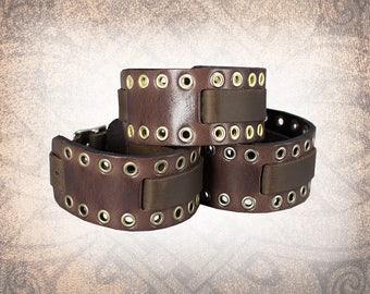 Eyelet Watch Cuff - Leather Watch Cuff, Leather Watch Strap, Leather Watch Band, Watch Cuff, Men's Watch Cuff (1 Watch Cuff Only)