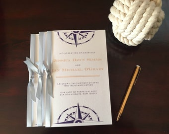 Nautical Wedding Program Booklet Deposit