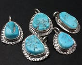 Arizona Turquoise Old Stock Nugget Style Pendants