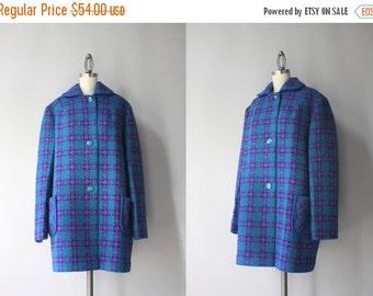STOREWIDE SALE 1960s Coat / Vintage 60s Wool Coat / Patterned Welsh Tweed Vintage Coat