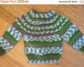 FLASH SALE hand knit baby sweater size 0 -  6 months