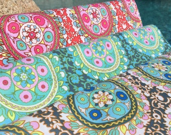 1 FQ ~ 1/2 yard ~ By the yard ~  Angelica ~ 3 colors ~ Cameo Collection by Amy Butler, Cotton Quilt Fabric