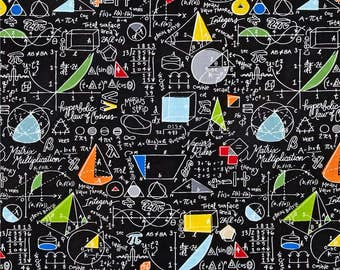 Back To School Algebra Black ~Timeless Treasures Collection, Cotton Quilt Fabric