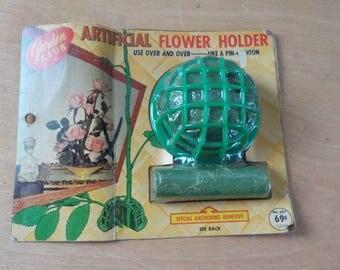 Vintage Plastic Flower Holder • Garden Club Artificial Flower Holder • Flower Holder in Original Packaging