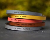 custom engraved leather bracelet | custom leather band | custom quote leather bracelet | personalized quote bracelet | custom handwriting