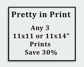 "Any three 11x14 or 11x11"" prints 30% off, your choice. Print Set, Art Collection, 11x11 Print, 11x14 Print, Art Sale, Sale Art, Landscape"