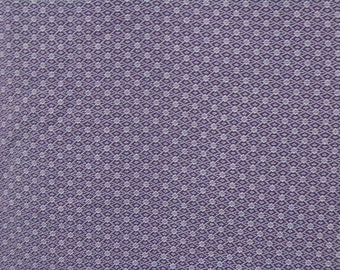 Vintage kimono S305, purple komon design over white base