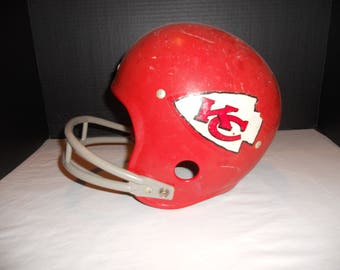 Vintage Kansas City Chiefs Plastic Toy Football Helmet by Rawlings Size Large