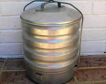 Antique Vintage Metal Food Pail Antique Vintage Metal Bucket A Buckeye Product Made In Ohio