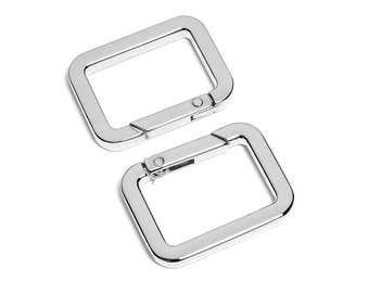 "30pcs - 1-1/8"" x 3/4"" Square Gate-Ring - Nickel - Free Shipping (GATE RING GRG-208)"