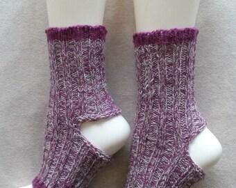 Yoga Socks Handknit Variegated Yarn