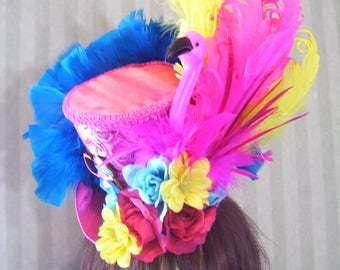 Alice in Wonderland Hat, Flamingo Hat, Mad Hatter Tea Hat, Kentucky Derby Hat, Alice in Wonderland Tea Hat, Steampunk