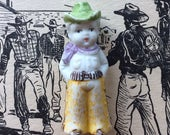 Well Howdy .. Vintage Bisque Miniature Cowboy Doll ~ Japan Import 1920's