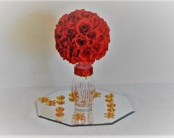 """7""""D Wedding centerpiece silk Flower Kissing Ball Centerpiece topiary centerpiece kissing balls for weddings pomander balls flower decoration"""