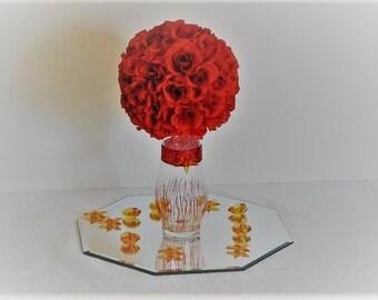 Flower ball wedding silk flower decoration centerpiece 7d wedding centerpiece silk flower kissing ball centerpiece topiary centerpiece kissing balls for weddings mightylinksfo