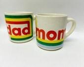 Vintage Mom and Dad mug set