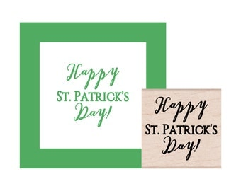 NEW for 2017 Happy St Patricks Day Rubber Stamp