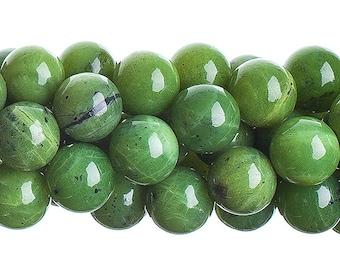 10 Pieces Natural Semi Precious Canadian Jade Stone - Round (631)