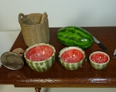 1:12 Scale Watermelon Mixing Bowls