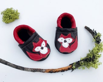 Red Fox  Soft Soled Leather Shoes Baby and Toddler