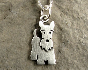 Tiny Scottish Terrier necklace / pendant