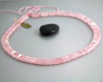 Rose Quartz Beads - Collar Beads - Rose Quartz - Full Strand