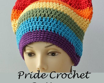 Free Gay Pride Rainbow Pussy Hat Crochet Pattern