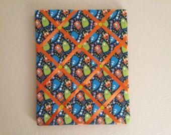 Monsters Fabric Memory Board/Bulletin Board/Monster Bedroom/Kids Room/Boys Room/Monster Decor