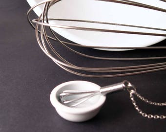Let Me Whisk YOU Away - Mini Working Wire Whisk Necklace