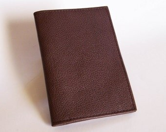 Brown Top Stub Checkbook - Dark Brown Leather Checkbook Cover - Leather Checkbook Holder