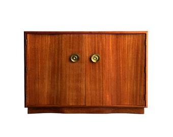Art Deco Buffet Credenza Cabinet w/Oversized Brass Cabinet Hardware