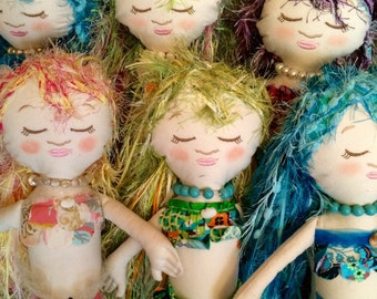 "24 "" Whimsical Bohemian Memaid Doll"