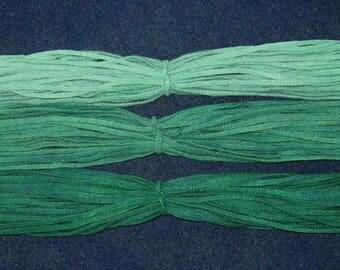 Rug Hooking Wool Strips Evergreen Gradations Number 8 Dorr Wool Artisan Wools Hand Dyed