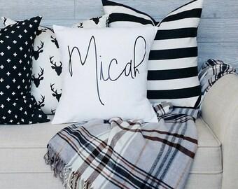 Modern Name Pillow Cover