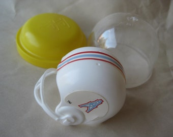 Houston Oilers Plastic Helmet Vintage White Red Blue Miniature NFL Toy