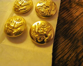 6 Naval Academy Gold Metal Buttons