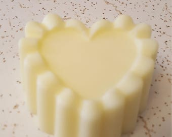 Coconut Oil Soap Scented Moonlight Path Heart shaped ruffle soap
