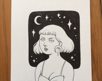 Original drawing - Night Sky