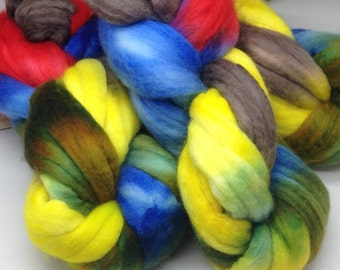 Hand painted Merino Cashmere top 2 ounce