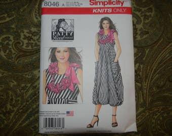 New Simplicity Pattern 8046 Fabulous Knit Dress Size XS-XL