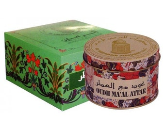 OUDH Ma'al Attar Bakhoor, Incense, Agarwood, Fragrance By Al Haramain. Glorious Arabic Oud based Room Freshener released by heat