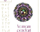 pendant tutorial / pattern Neumann pendant with bugle beads – PDF instruction for personal use only