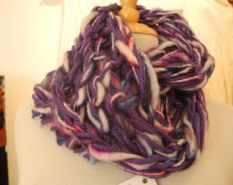 arm knitted long cowl.