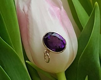 Reserved for LittleMillie:  Handforged Top Quality Amethyst Pendant by Heart of Water Jewels (3rd Deposit Listing)