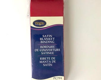 Wrights Satin Blanket Binding - Red - 4.75 Yards - Binding for Sewing - Brand New - NIP - Ships Quick