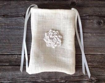 Dollar Dance Bag, Wedding Dance, Maid of Honor Bag, Tote Bag, Ivory Wedding, Rustic Wedding, Barn Wedding, Garden Wedding